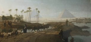 The subsiding of the Nile  - Frederick Goodall