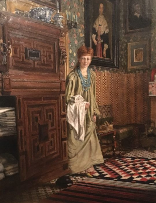 Laura Alma Tadema in the Dutch room at Townshend House    Ellen Epps 1873
