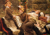 The garden  bench | www.jamestissot.com