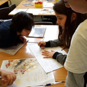 Creative writing and caricature workshop: practicing empathy with Y5