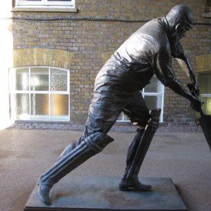Bronze of W G Grace by Louis Laumen