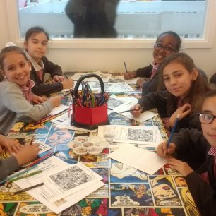 Westminster Cathedral School at the Cartoon Museum
