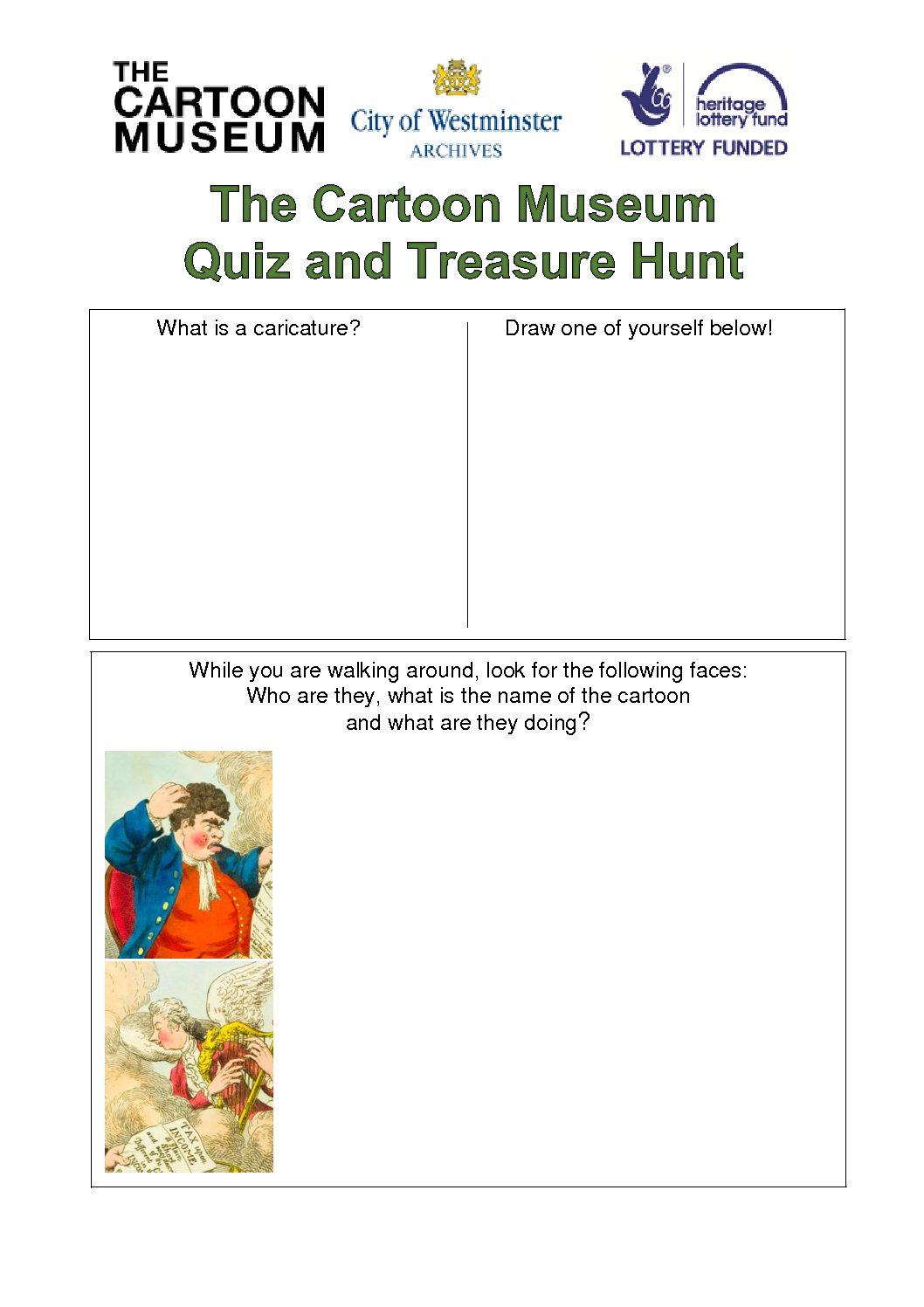 The Cartoon Museum Quiz and Treasure Hunt