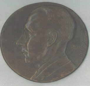 Medal of F.J.Cooper by Professor Arthur Lowenthal 1944