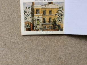 watercolour of 34 Hamilton Terrace from Robert Hawkings' memoirs