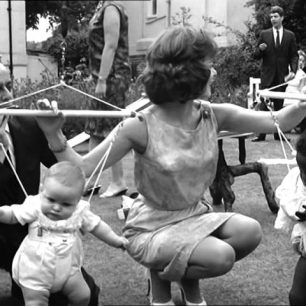 A garden party in Hamilton Terrace in 1963- now on You tube