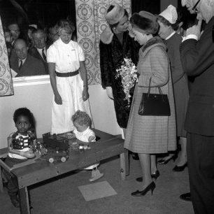 Princess Margaret visiting thalidomide toddlers