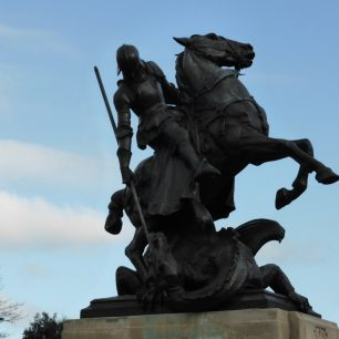 St George and the dragon   sculptor Charles Leonard Hartwell (1873-1951)
