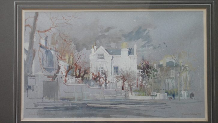 Burghley House, Loudoun Road watercolour by Charlotte Halliday