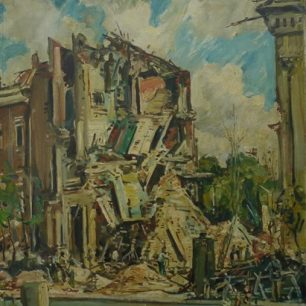 Flying bomb damage St John's Wood (Frank Beresford)