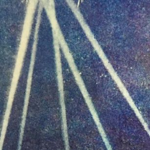 Zeppelin caught in lights