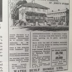 Sales poster for Acacia Gardens 1959