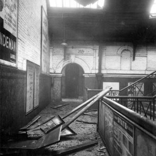 St John's Wood Road station  Air raid damage 16 November 1940 (c) Tfl from the London Transport Museum Collection