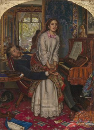The Awakening Conscience (1853) by William Holman Hunt (1827-1910 ) Photo © Tate, image released via CC-BY-NC-ND