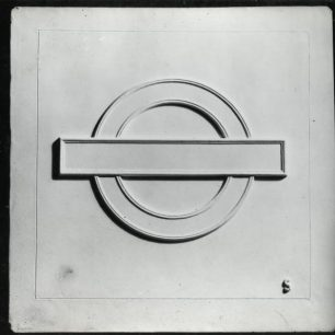 Stabler tile Roundel (c) Tfl from the London Transport Museum Collection