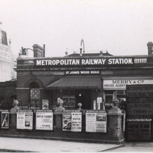 St John's Wood Road station 1910 (c) Tfl from the London Transport Museum Collection