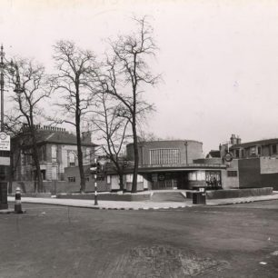 St John's Wood station on corner of Acacia Road (c)Tfl from the London Transport Museum collection