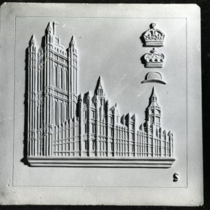 Stabler tile of Palace of Westminster (c) Tfl from the London Transport Museum Collection
