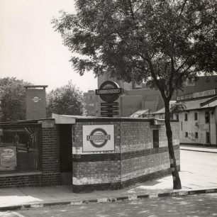 Swiss Cottage station and rear of Odeon (c) Tfl from the London Transport Museum Collection
