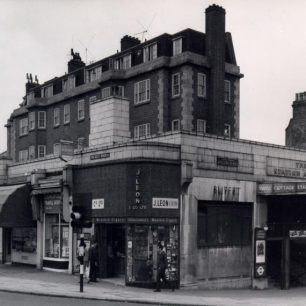 Pre 1960s Swiss Cottage station (c) Tfl from the London Transport Museum Collection