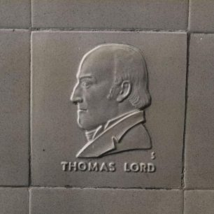 Stabler tile of Thomas Lord (c) Tfl from the London Transport Museum Collection