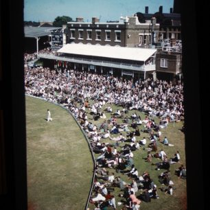 A sunny day at Lord's  from the time when the spectators could sit on the grass