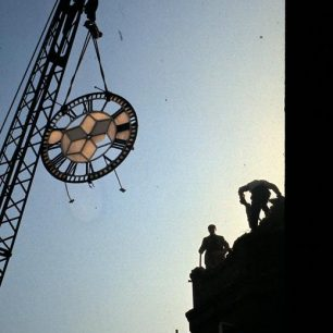 The end of the Clock Tower when the original Lord's Tavern was demolished
