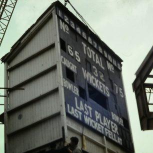 The old score board