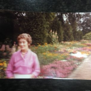 Brian's mother Olga at Nuffield Lodge St John's Wood 1984