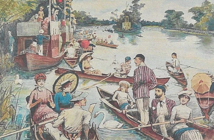 Spectators on the water at Henley Regatta  Maurice Grieffenhagen