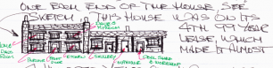 Neville's drawing of their house  in Aquila Street