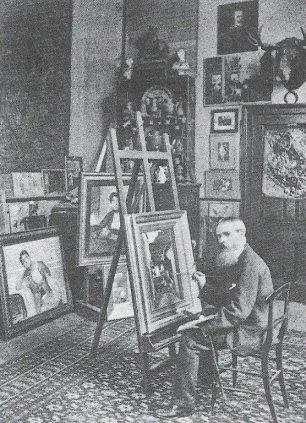 Philip Calderon in his studio