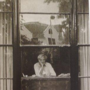 Stephen Spender at home