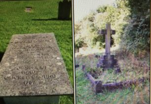 Graves of Thomas Lord and Guy Burgess at St John the Evangelist  West Meon