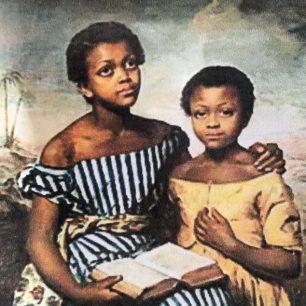 Two black girls by Emma Jones