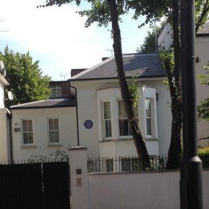 Madam Tussaud's house and plaque