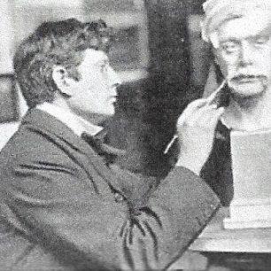 Sir George Frampton at work