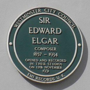 Sir Edward Elgar plaque