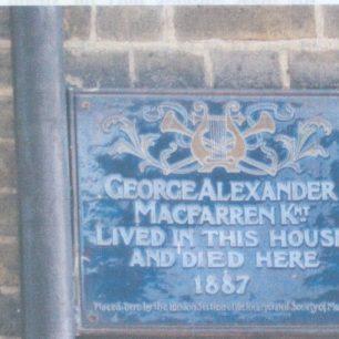 Sir George Macfarren plaque