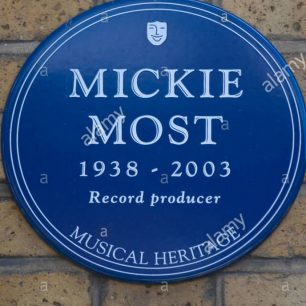 Mickie Most plaque