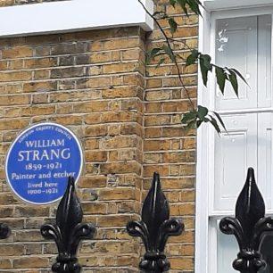 William Strang plaque