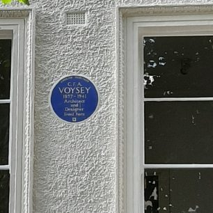 Charles Voysey plaque