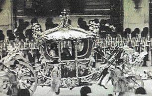 Coronation coach in procession 1937