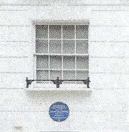 Blue plaque at 24 St Ann's Terrace NW8 in  2020