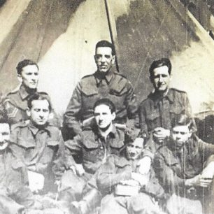 George Orwell and friends in the Home Guard 1941 (copyright UCL)