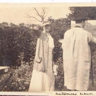 Winston and Clementine Churchill at Hartsbourne