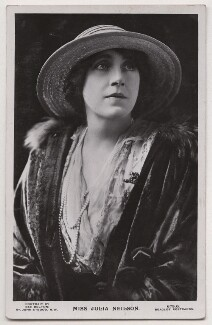 Julia Emilie Neilson, actress, photographed in the 1910s, and published by J Beagles & Co | National Portrait Gallery