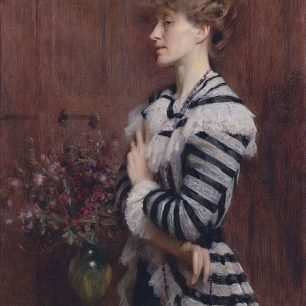 Christabel Cockerell, Lady Frampton  by Arthur Hacker
