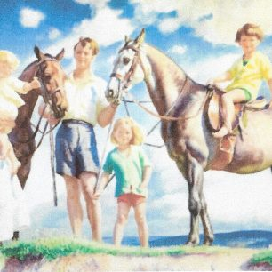 Mr and Mrs de Peyer  with Gervase, Deidre and Adrian by Laura Knight