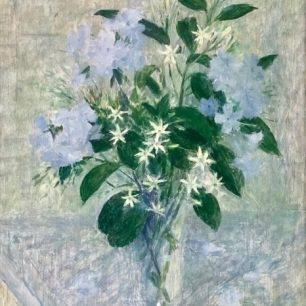 Plumbago and jasmine by Dod Proctor c 1951